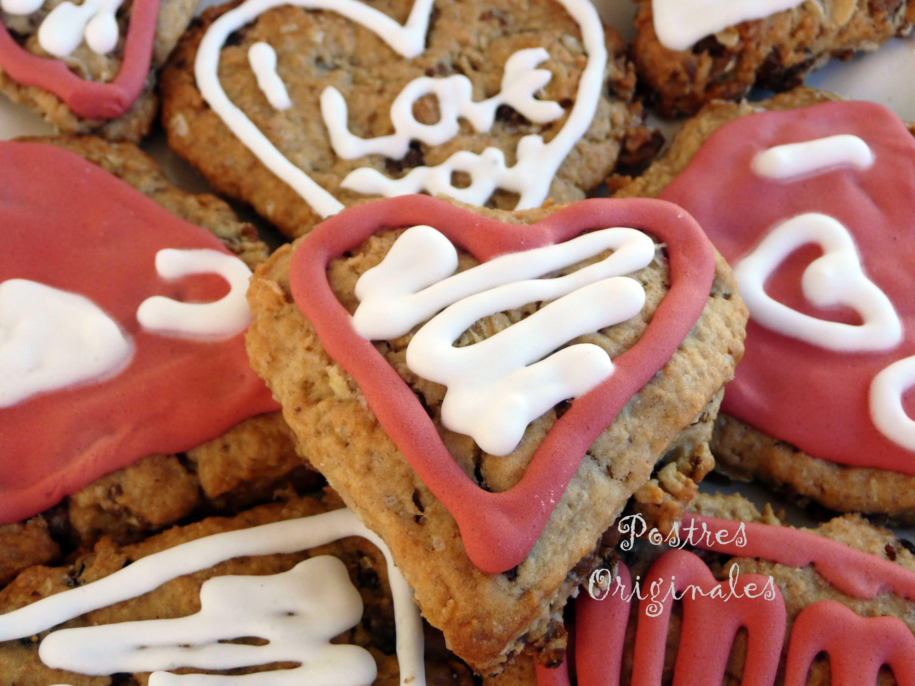 Galletas de Muesli para San Valentín