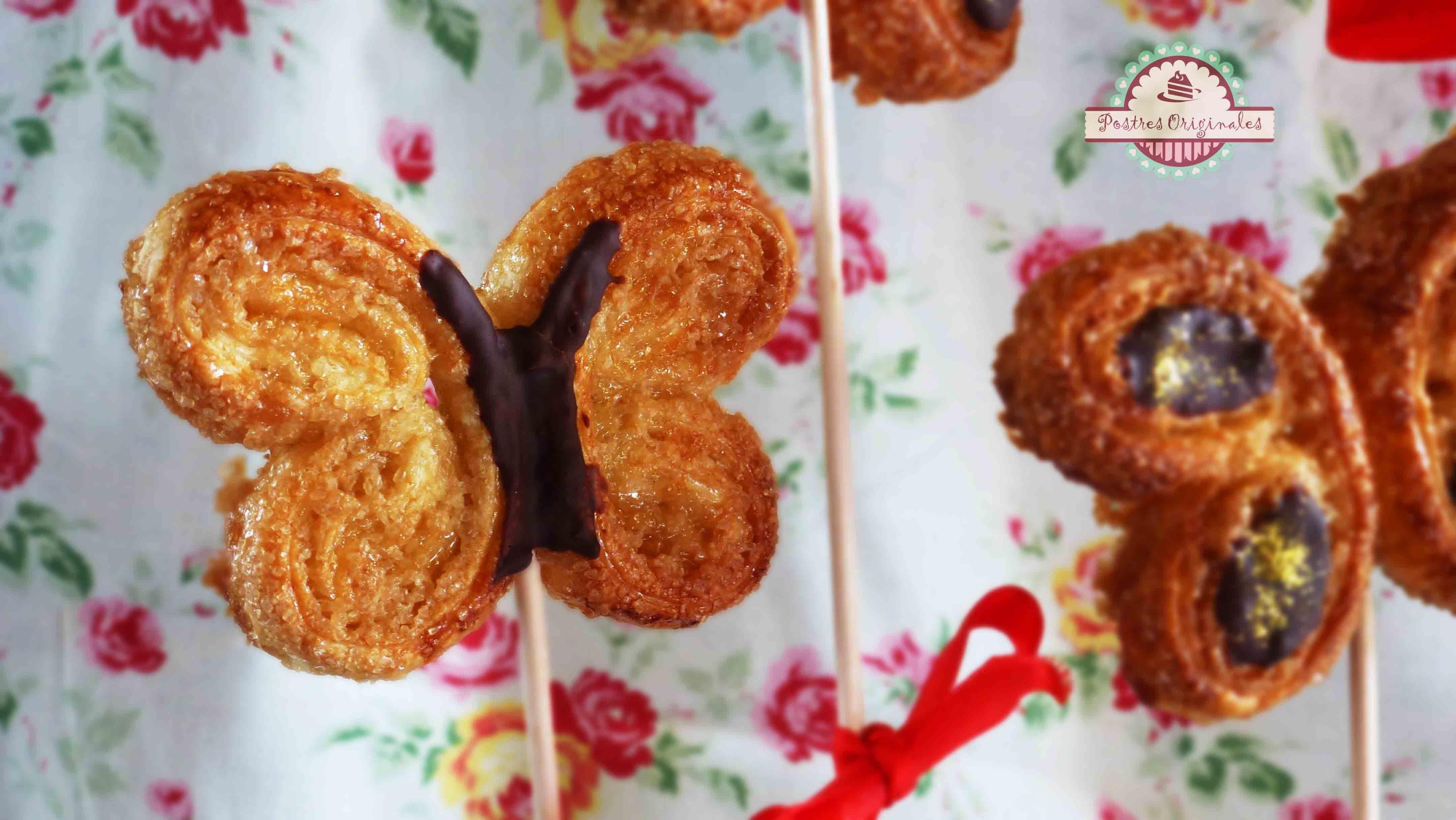 palmeritas caseras con masa de tarta