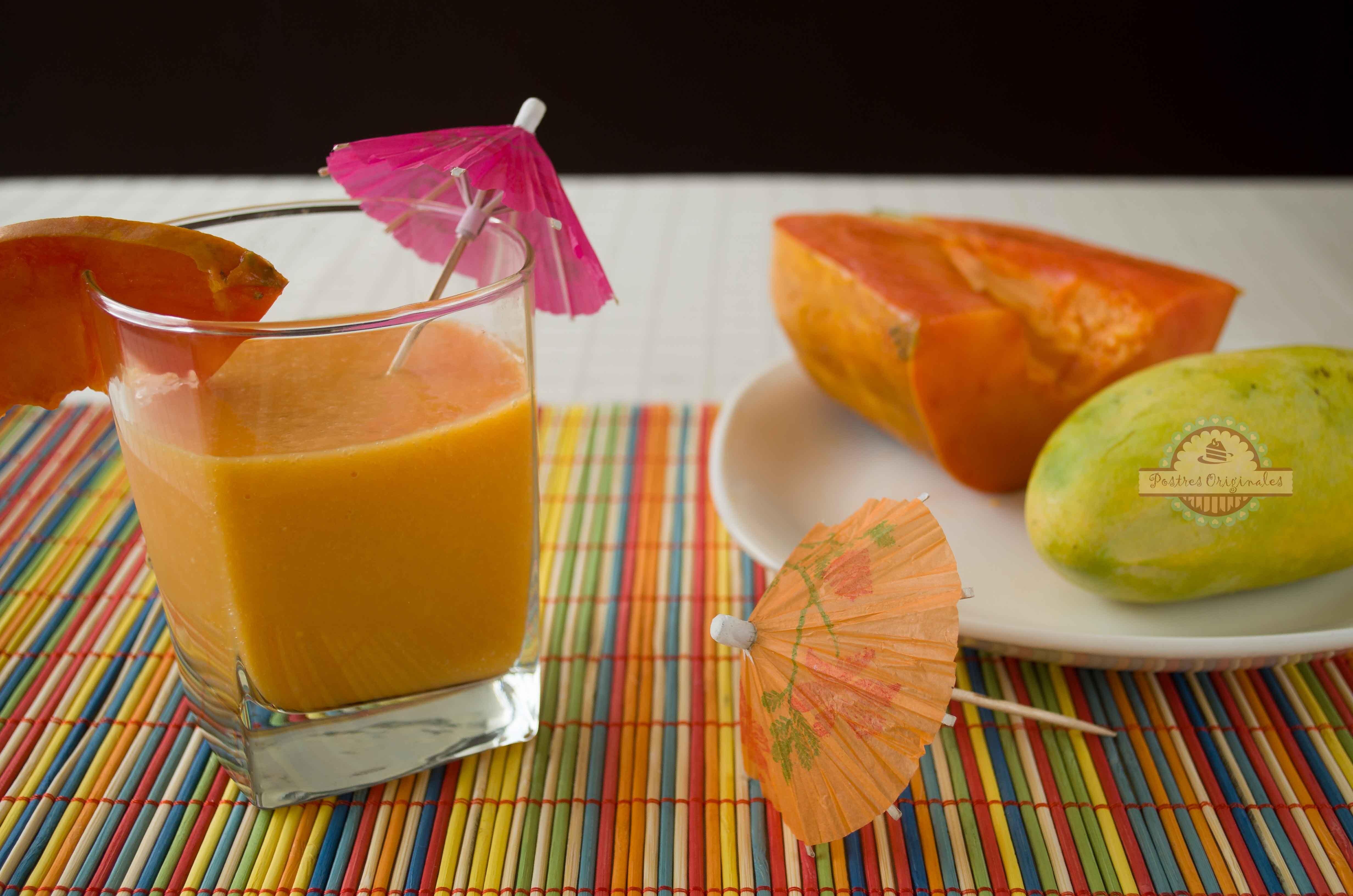 Batido de Papaya y Mango