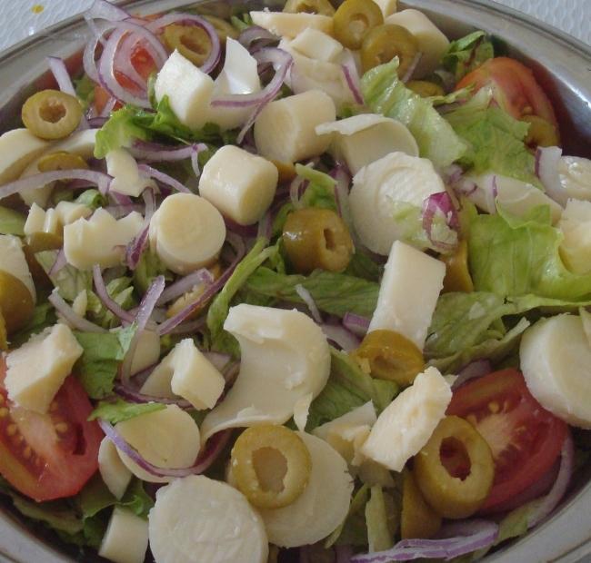 saladas,grão de bico,