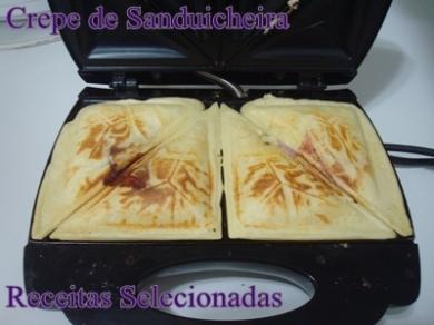 de crepe na sanduicheira