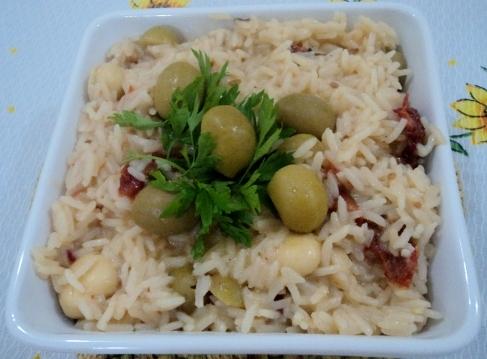 arroz temperado simples e rapido
