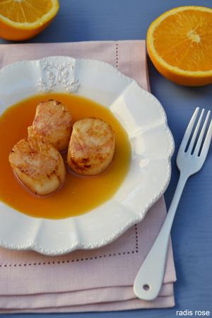 Saint-Jacques sauce orange gingembre
