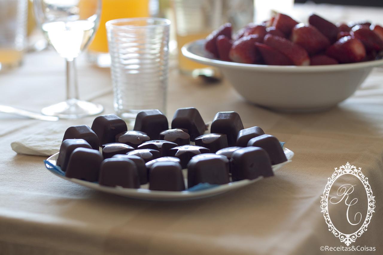 gelo com gosto de chocolate