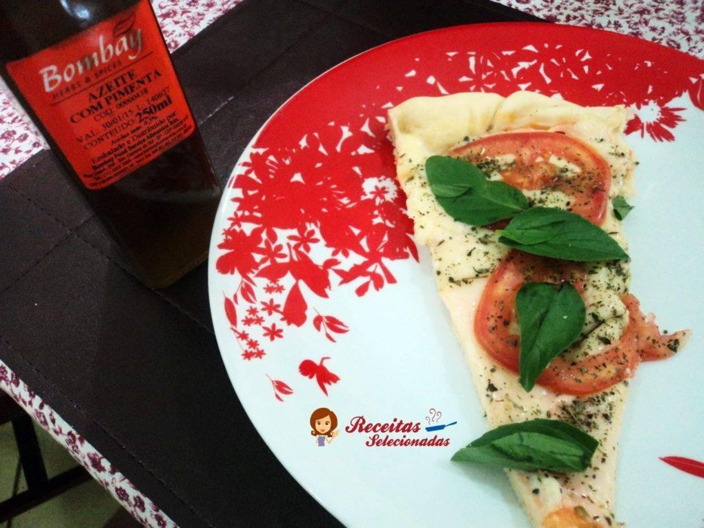 Pizza com Azeite de Pimenta Bombay