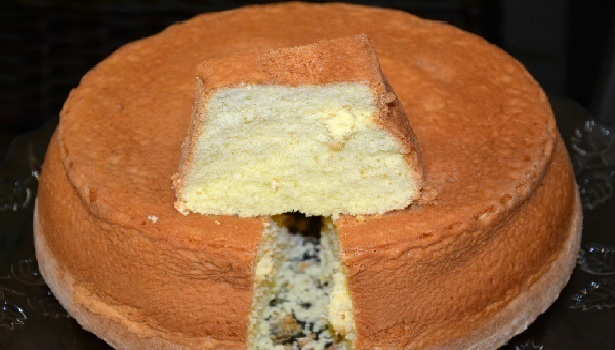 Pão de Ló de Fécula de Batata