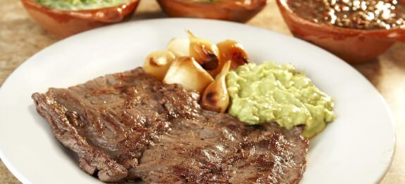 Arrachera asada y marinada