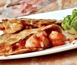 Taco gobernador (de camarón con queso)