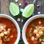 Receta básica de Pozole con Variación: Jalisco, Michoacán y Colima
