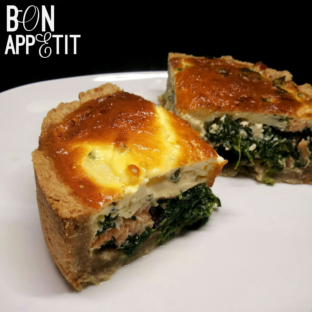 Räucherlachs-Spinat Quiche