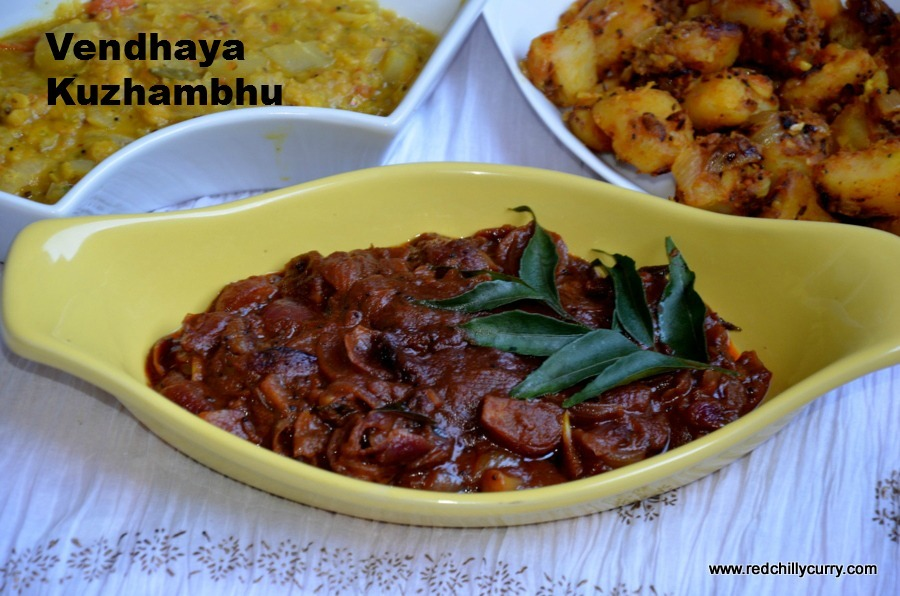 Vendhaya Kuzhambhu /Fenugreek Tamarind Curry