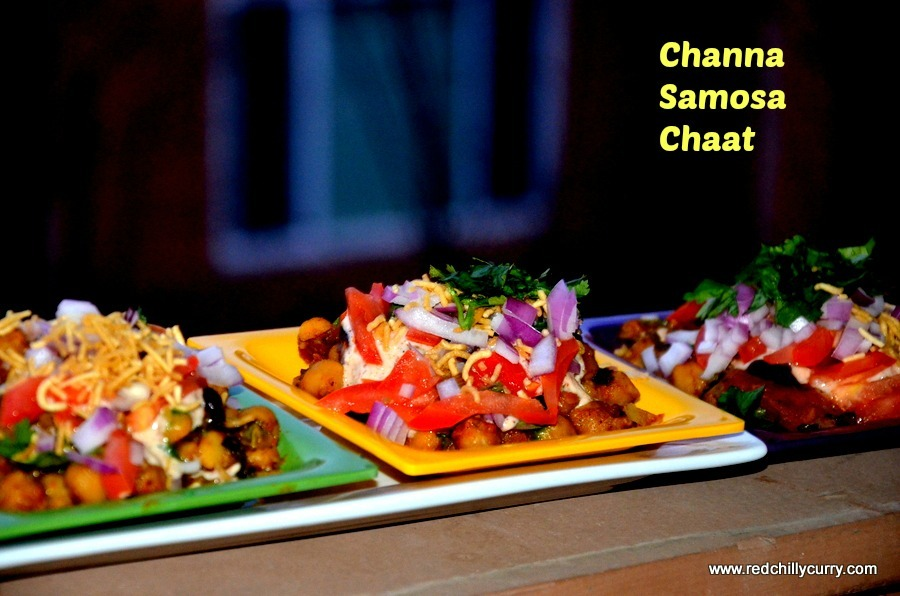 Channa Samosa Chaat(Quick Way)