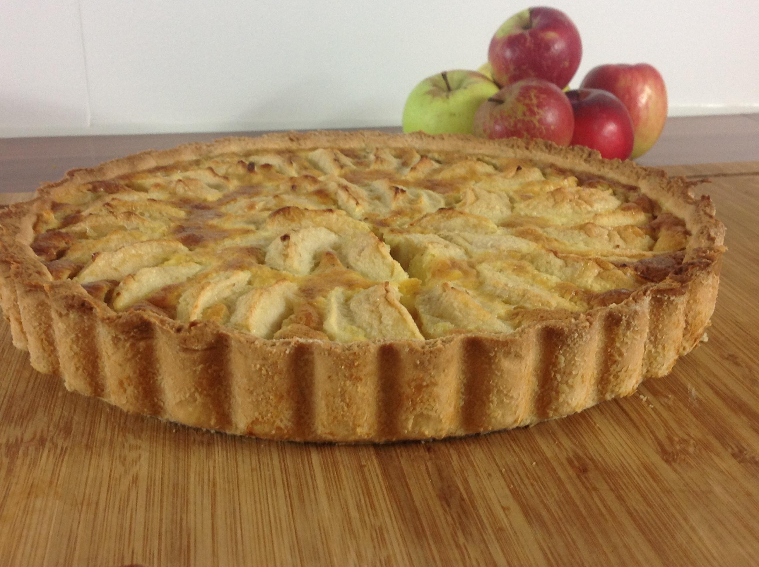 Apfelkuchen im Mürbeteig
