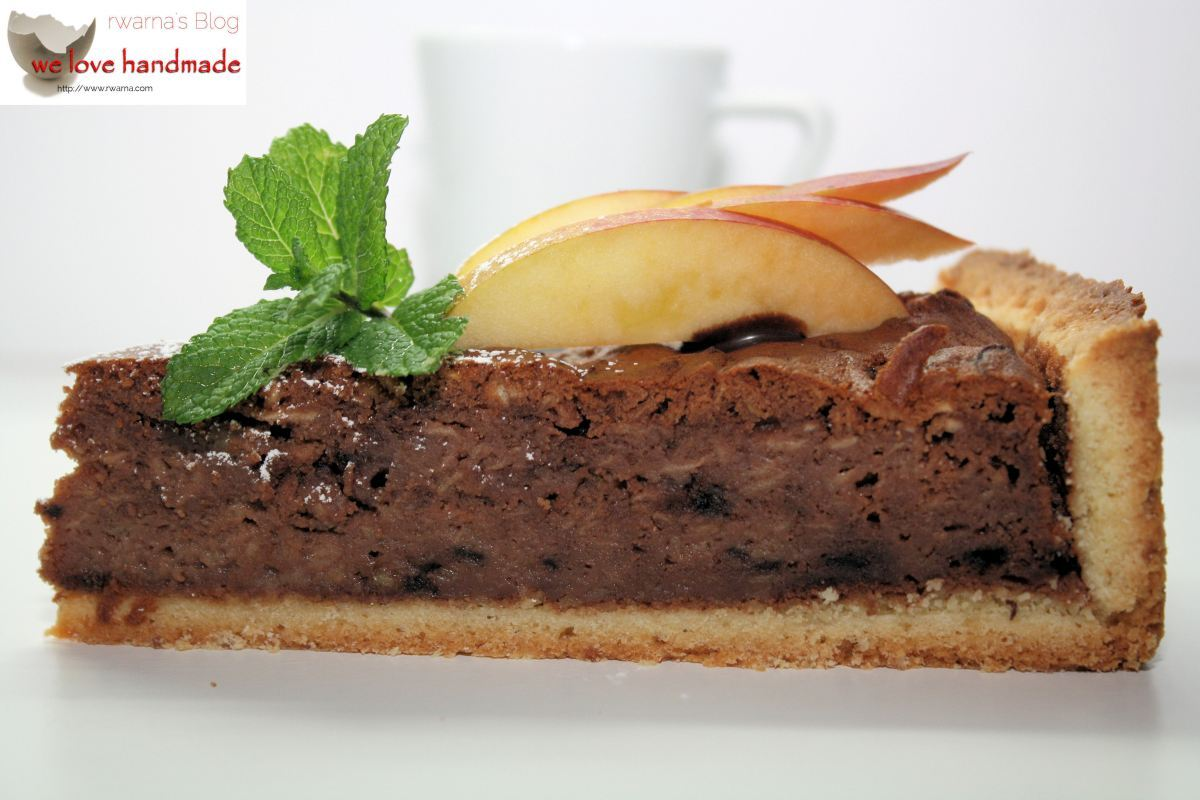 Kuchen mit Ovomaltine und Äpfeln