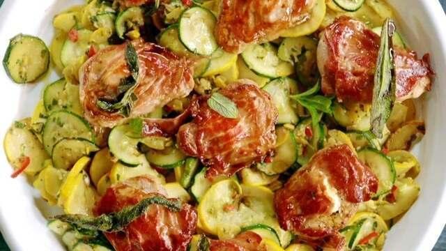 Medalhão de carne de porco recheado com queijo: receita de Jamie Oliver