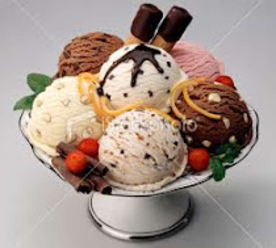Παγωτό βανίλια, με παραλλαγή διαφόρων γεύσεων
