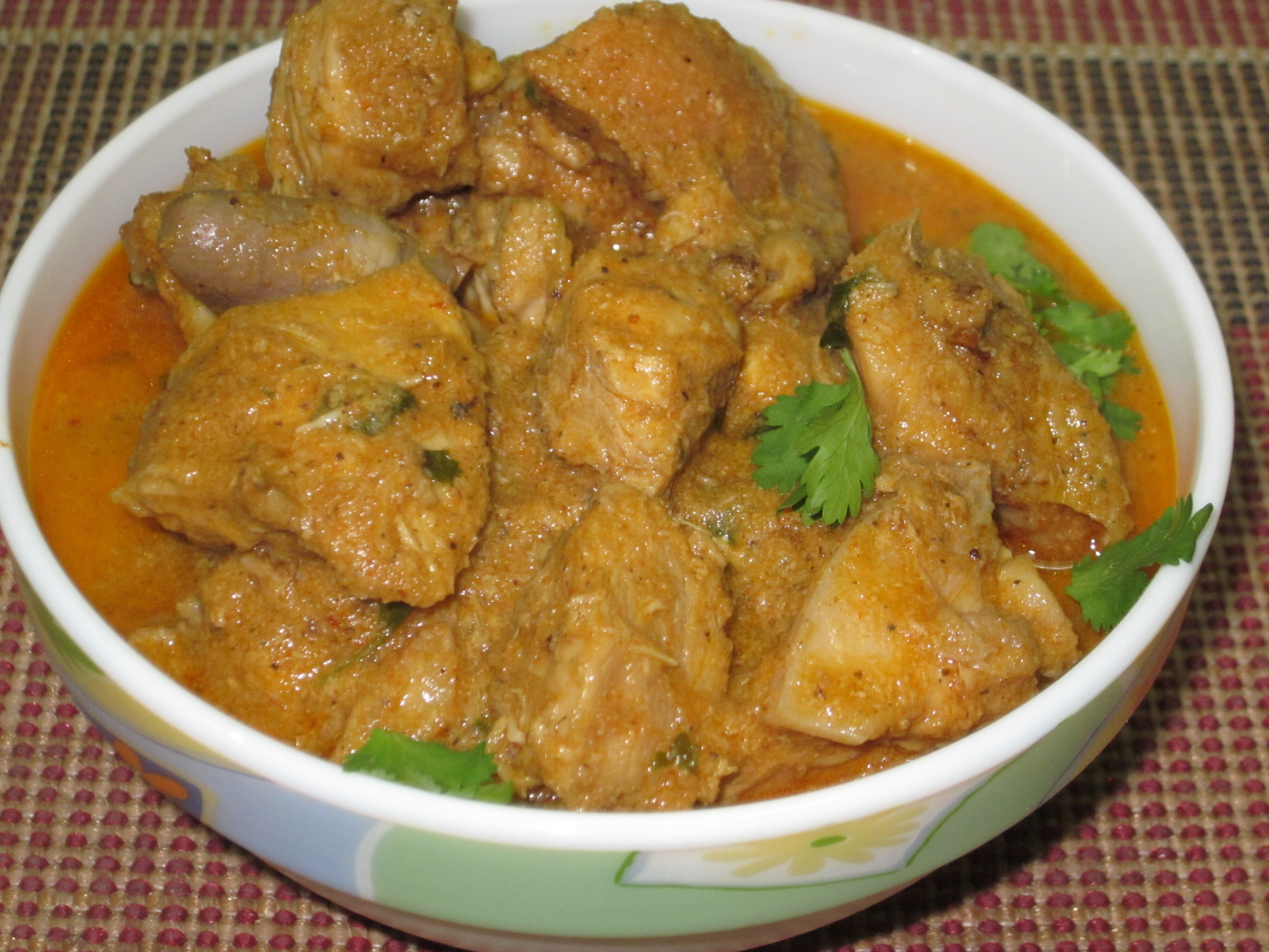 andhra style spicy chicken curry