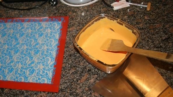 Cómo pintar el chocolate usando transfers