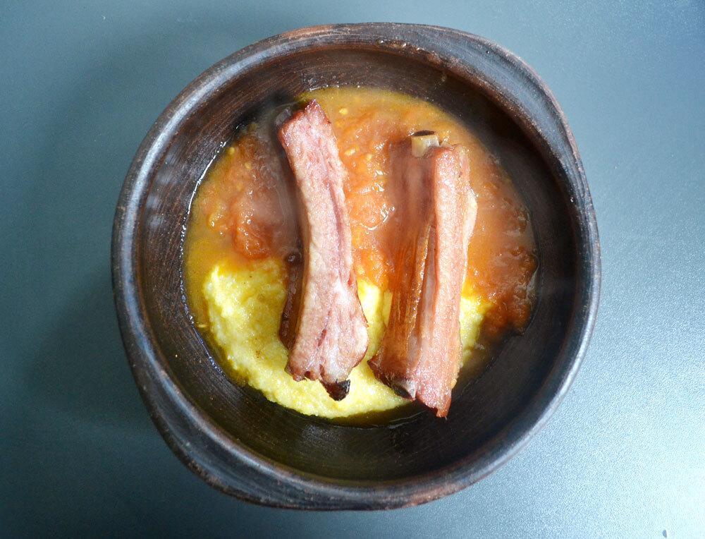 de costillar de cerdo ahumado al horno