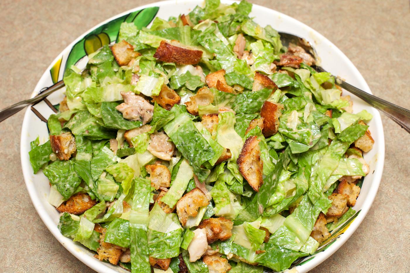 Thyme Chicken Caesar Salad