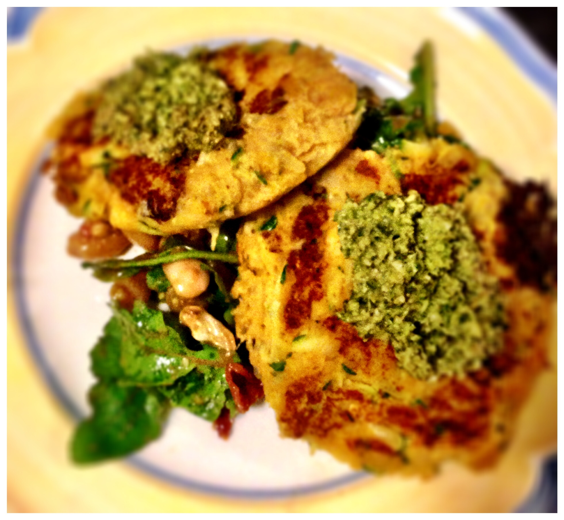 Chickpea, Zucchini Fritters