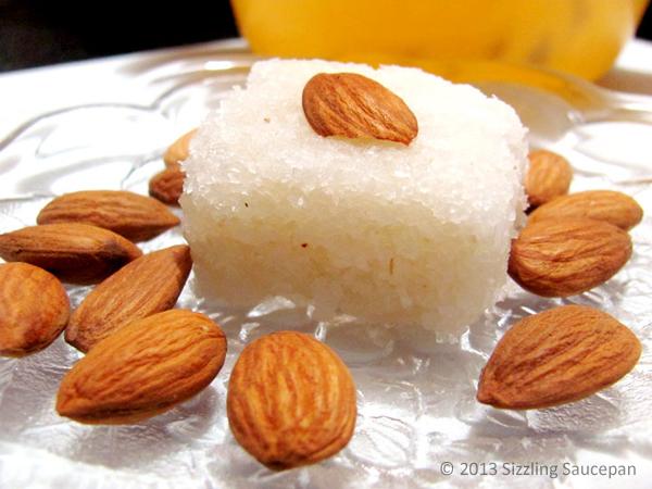Instant Nariyal ki Burfi / Instant Coconut Burfi / Coconut Sweet
