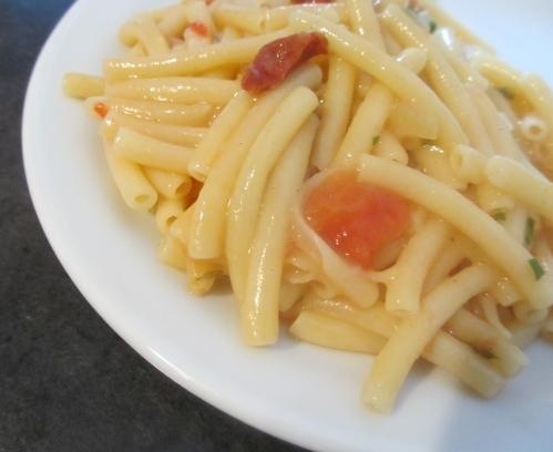 One pan pasta (chorizo et tomates)