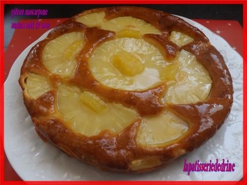 gâteau mascarpone  ananas noix de coco