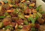 quiabada de frango com camarão
