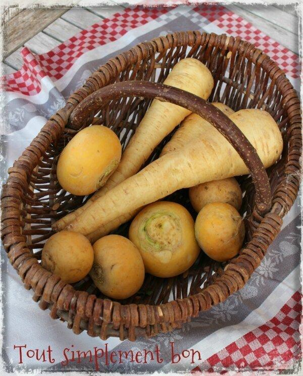 Pintade aux épices et légumes d'antan et un petit jeu { opération prince de Bretagne } .