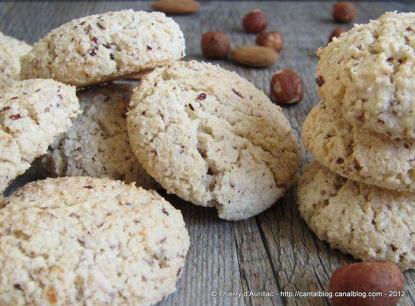 Biscuits secs aux amandes et aux noisettes un peu comme des macarons ...