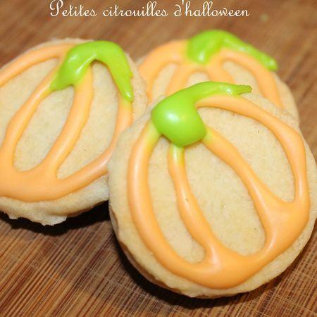 Sablés, amandes, fleur d'oranger, pour Halloween