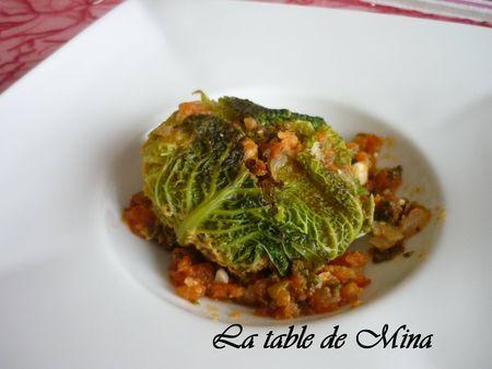 Mini choux vert farcis