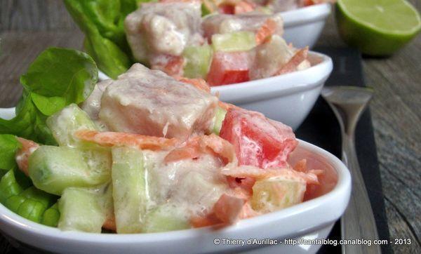Salade Tahitienne ou poisson cru au lait de coco !