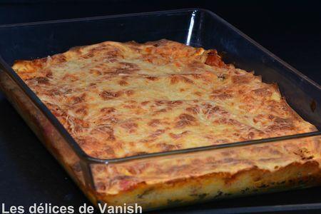Lasagnes au saumon et champignons de Paris