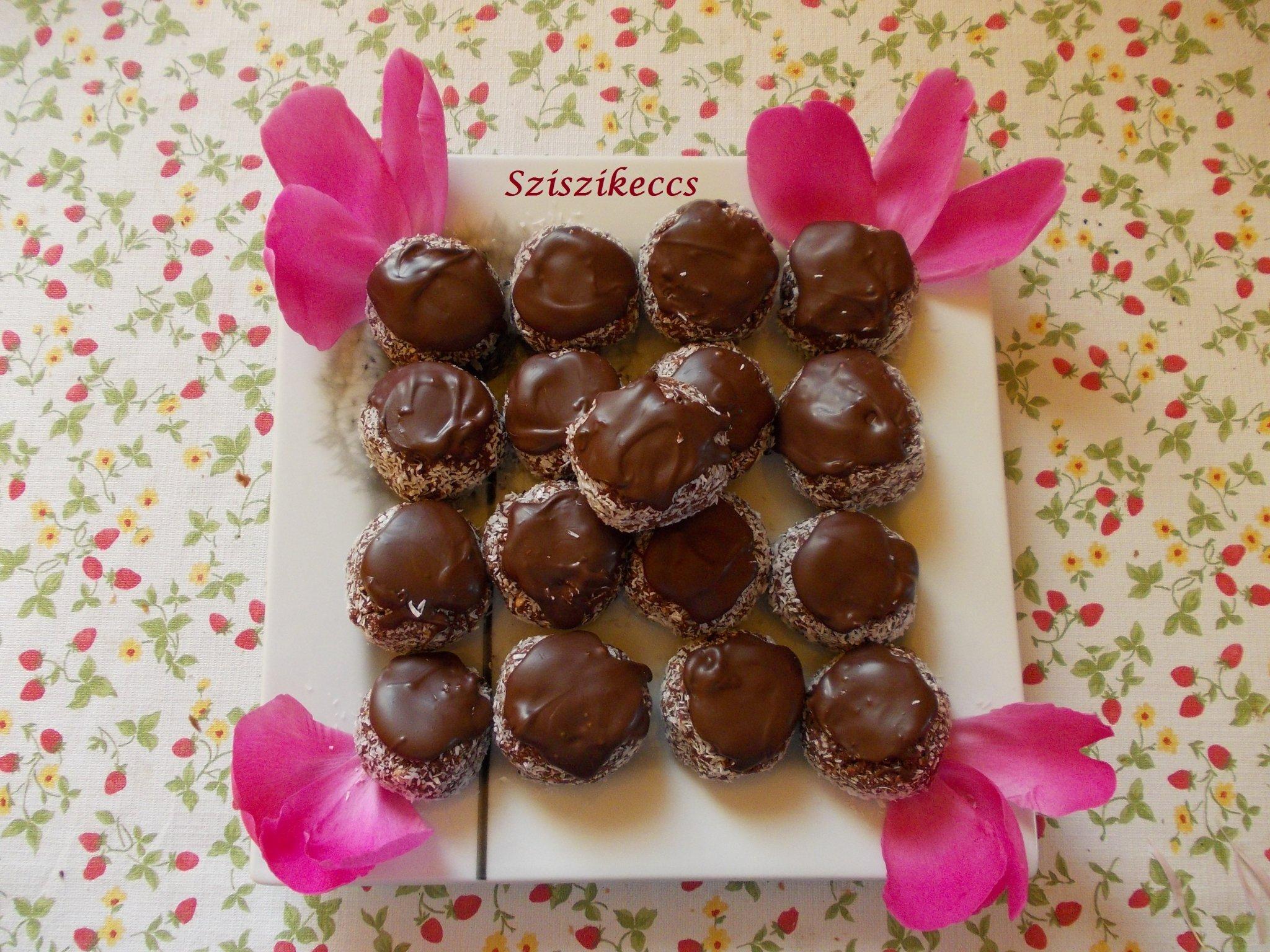 Kozák sapka sütés nélkül avagy kókuszgolyó csokikalapban