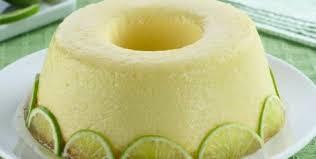 Bolo-pudim de limão