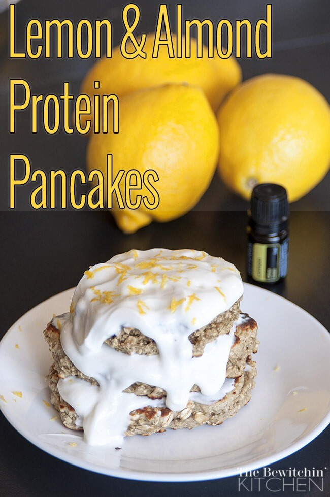 Lemon Almond Protein Pancakes: Cooking With Essential Oils