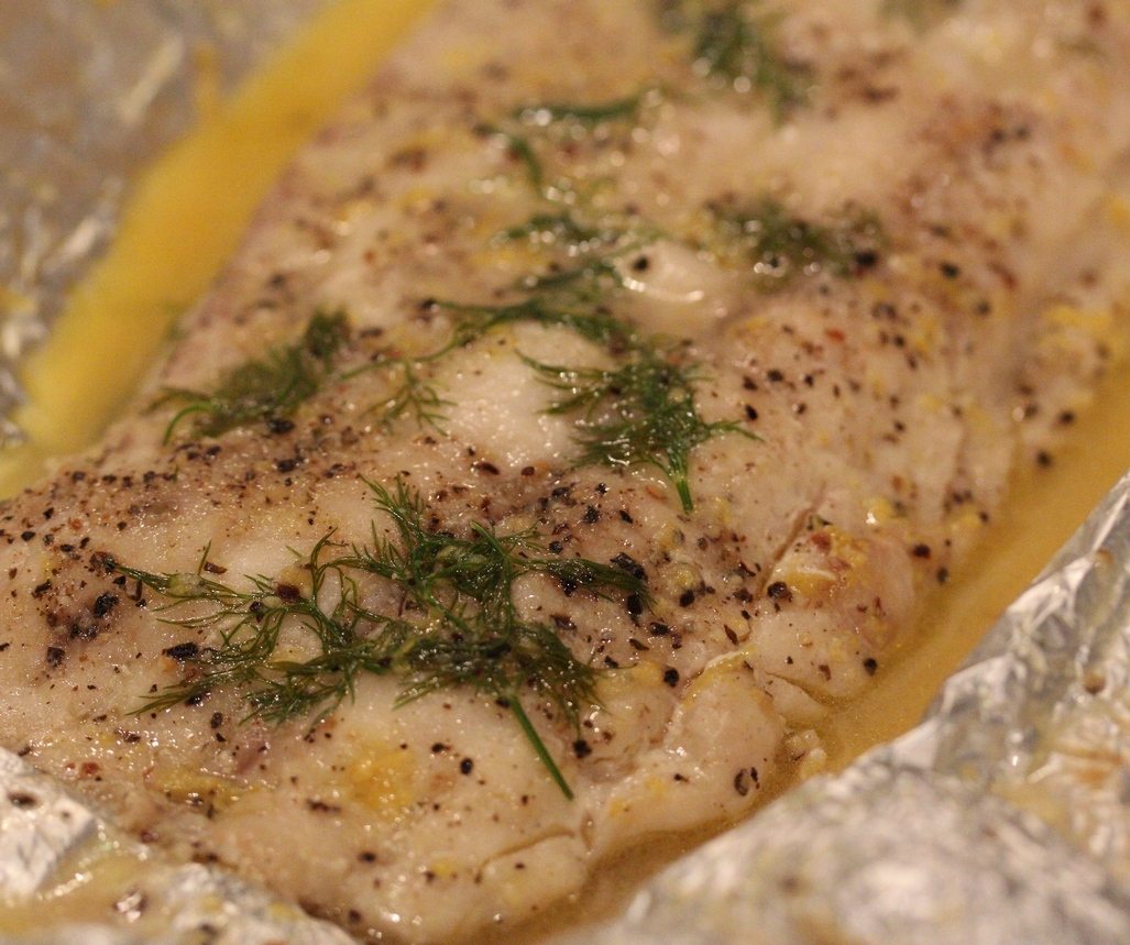fish in foil on braai