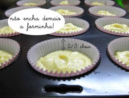 Bolinho de baunilha (rende mais ou menos 15 cupcakes)