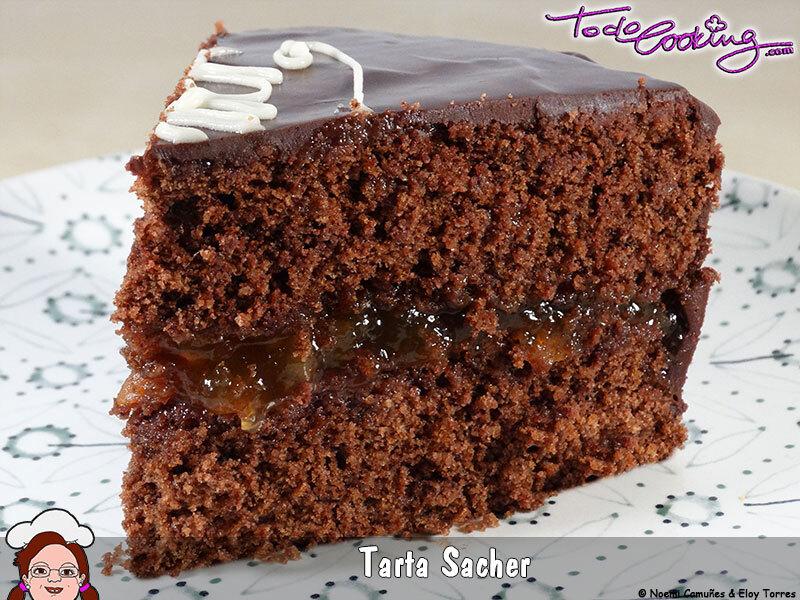 Sachertorte o Tarta Sacher en el microondas