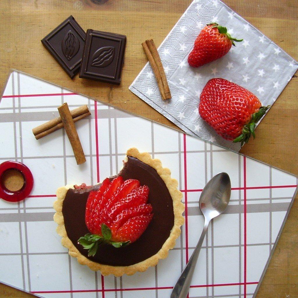 Tarte fraise-chocolat sans cuisson