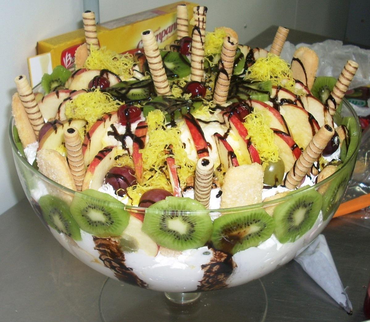 Receita de Taça da Felicidade ( A montagem das frutas dependo do seu gosto)