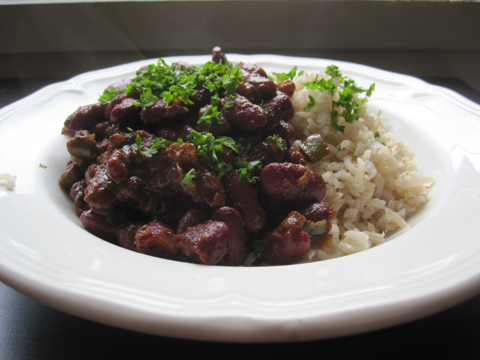 Haricots et Zadico {Louisiana Red Beans and Rice}