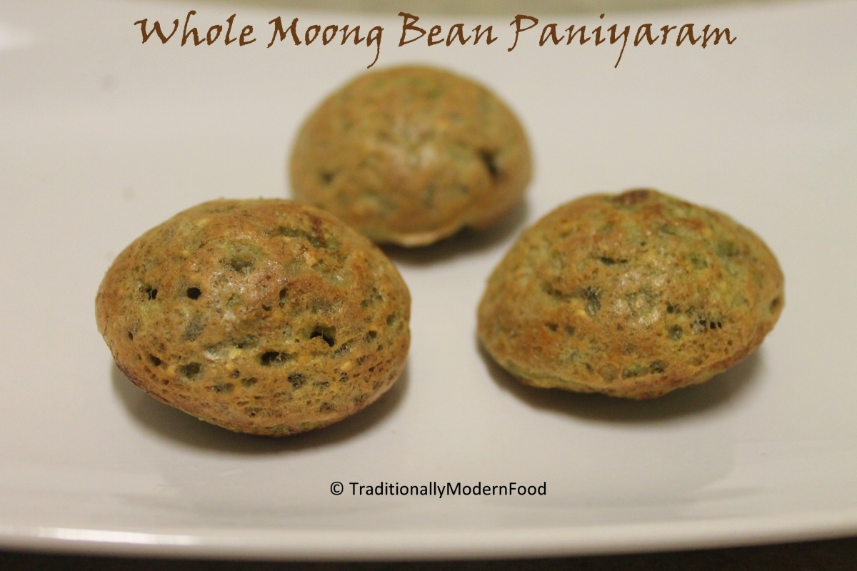 Whole Moong Bean Paniyaram