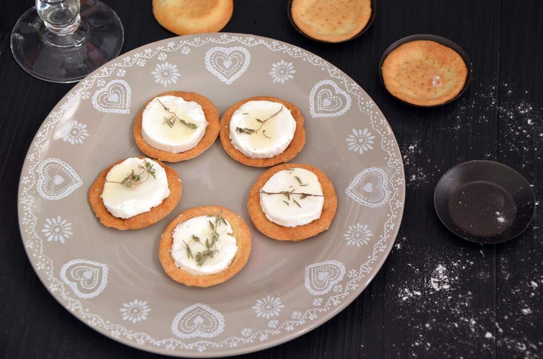 Tartelettes chèvre miel et Journée Marmiton avec les pâtes Marie !
