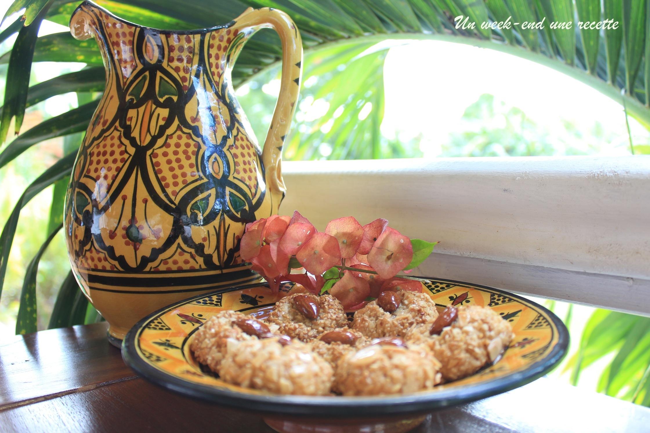 Gâteau algérien miel cacahuètes