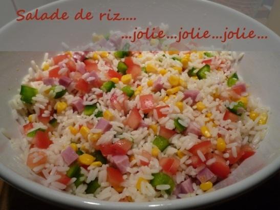 Salade de riz…jolie…jolie…jolie…