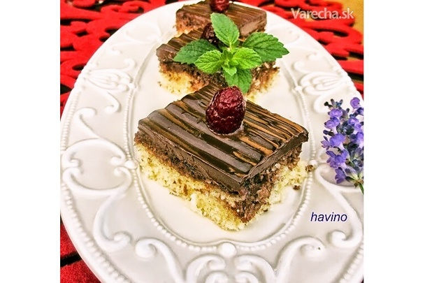 Kokosovo-čokoládový koláč (fotorecept)