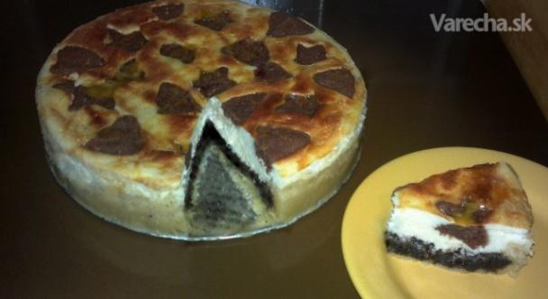 Makovo-tvarohový koláč (fotorecept)